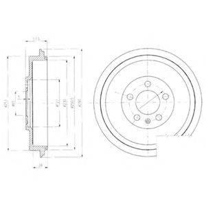 Тормозной барабан DELPHI BF406