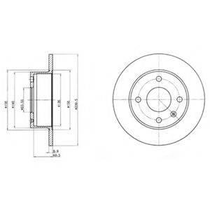 Тормозной диск DELPHI BG2376