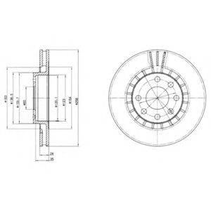 Тормозной диск DELPHI BG2443
