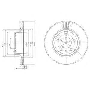 Тормозной диск DELPHI BG2908