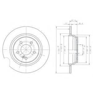 Тормозной диск DELPHI BG3725