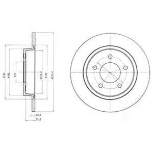 Тормозной диск DELPHI BG3930