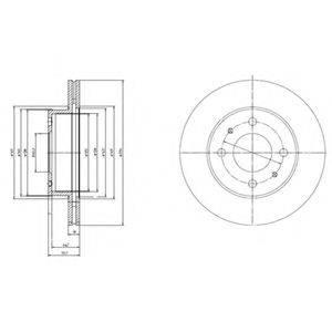 Тормозной диск DELPHI BG3946