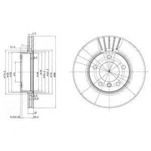 Тормозной диск DELPHI BG2623C