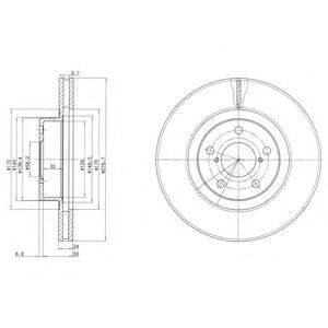 Тормозной диск DELPHI BG2827C