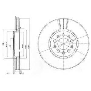 Тормозной диск DELPHI BG3035C