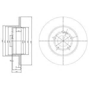 Тормозной диск DELPHI BG3208C