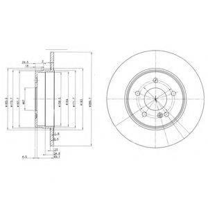 Тормозной диск DELPHI BG3239C