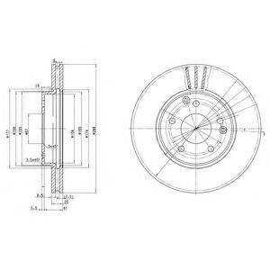 Тормозной диск DELPHI BG3240C