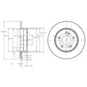 Тормозной диск DELPHI BG3326C