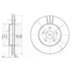 Тормозной диск DELPHI BG3537C