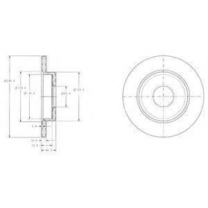 Тормозной диск DELPHI BG3673C