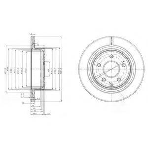 Тормозной диск DELPHI BG3765C