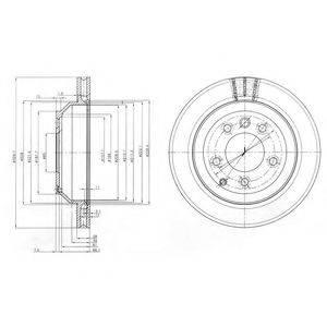Тормозной диск DELPHI BG3775C