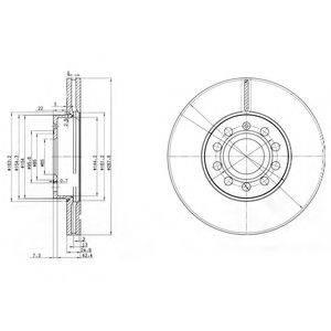 Тормозной диск DELPHI BG3833C