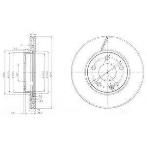 Тормозной диск DELPHI BG3845C