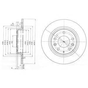Тормозной диск DELPHI BG3875C