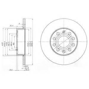 Тормозной диск DELPHI BG3890C