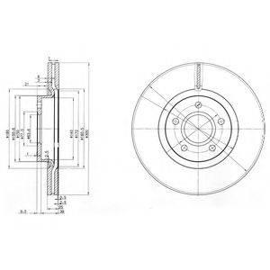 Тормозной диск DELPHI BG3895C