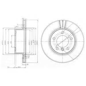 Тормозной диск DELPHI BG3899C