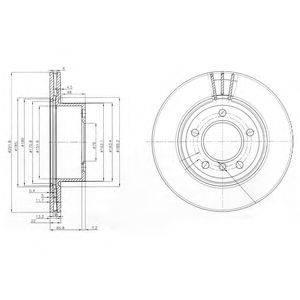 Тормозной диск DELPHI BG3900C