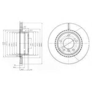 Тормозной диск DELPHI BG3901C
