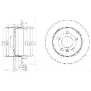 Тормозной диск DELPHI BG3910C