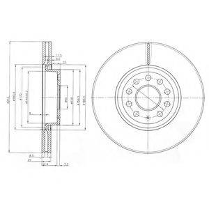 Тормозной диск DELPHI BG3953C