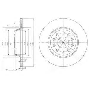 Тормозной диск DELPHI BG3954C