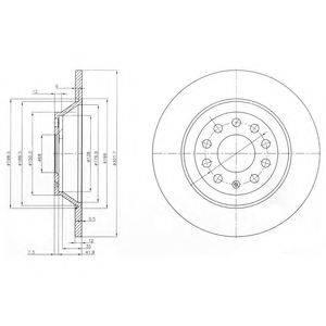 Тормозной диск DELPHI BG3956C
