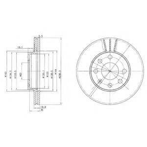 Тормозной диск DELPHI BG2278