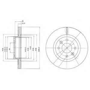Тормозной диск DELPHI BG2283