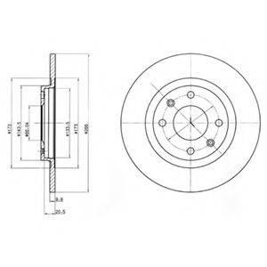 Тормозной диск DELPHI BG2308