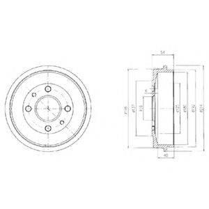 Тормозной барабан DELPHI BF200