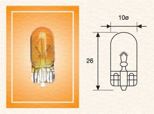 Лампа накаливания, фонарь указателя поворота; Лампа накаливания MAGNETI MARELLI 002051800000