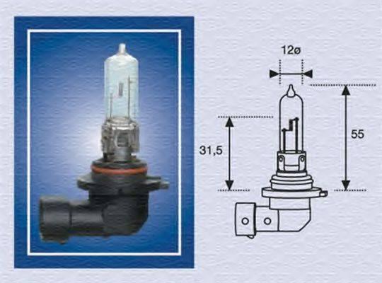 Лампа накаливания, фара дальнего света; Лампа накаливания, основная фара; Лампа накаливания MAGNETI MARELLI 002577200000