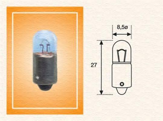 Лампа накаливания, фонарь указателя поворота; Лампа накаливания, задний гарабитный огонь; Лампа накаливания, стояночные огни / габаритные фонари; Лампа накаливания MAGNETI MARELLI 002893100000