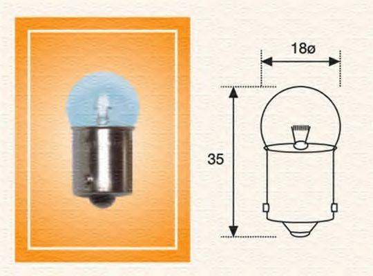 Лампа накаливания, фонарь освещения номерного знака; Лампа накаливания, задний гарабитный огонь; Лампа накаливания, oсвещение салона; Лампа накаливания MAGNETI MARELLI 004009100000