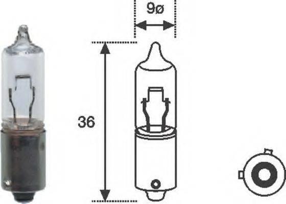 Лампа накаливания, фонарь указателя поворота; Лампа накаливания MAGNETI MARELLI 002052500000