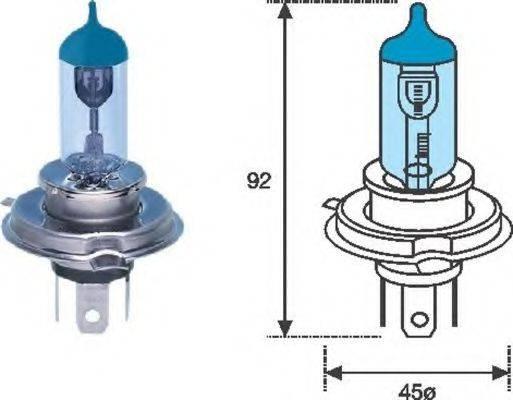Лампа накаливания, фара дальнего света; Лампа накаливания, основная фара; Лампа накаливания MAGNETI MARELLI 002602100000