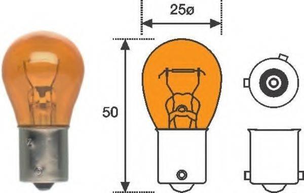Лампа накаливания, фонарь указателя поворота; Лампа накаливания MAGNETI MARELLI 008507100000