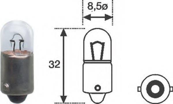 Лампа накаливания, задний гарабитный огонь; Лампа накаливания, стояночные огни / габаритные фонари; Лампа накаливания MAGNETI MARELLI 002893200000